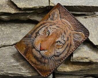 "Passport leather cover ""Tigr"""