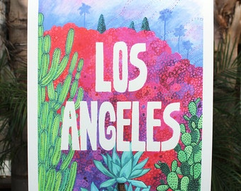 "XL Los Angeles Print - 18"" x 24"""