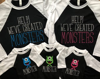 Family of Monsters Shirts!