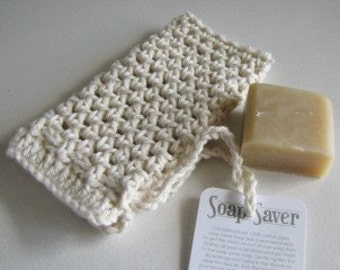 Natural Soap Saver - 100 percent cotton