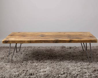 1400mm Industrial Style  Coffee Table made from reclaimed scaffold boards.