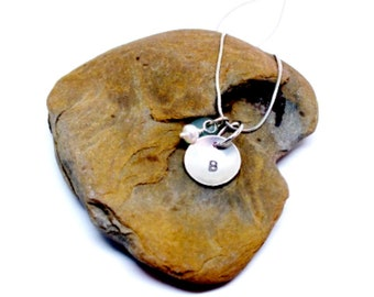 Personalized Necklace For Mom, Personalized Jewelry, Sea Glass Jewelry, Sea Glass, Sterling Sea Glass Necklace, Gift for Mom