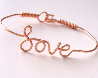 Bracelet, Wire Name Bracelet, Wire Name, Personalized, Wire Name Jewelry, Handmade, Custom, Letters, Words, Bridesmaid Gift, Wedding
