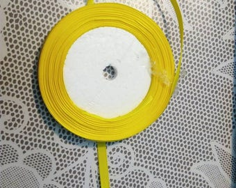 1 m width 6 mm bright yellow satin ribbon