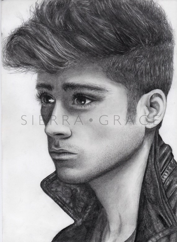 Items similar to zayn malik of one direction pencil drawing on etsy