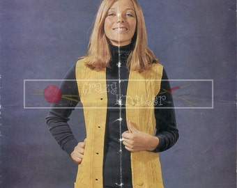 """Lady's Cable Tunic 34-36"""" DK Sirdar 5117 Vintage Knitting Pattern PDF instant download"""