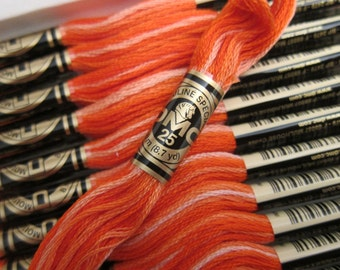 106, Variegated Coral, DMC Cotton Embroidery Floss - 8m Skeins - Full (12-skein) Boxes - Get Up To 50% OFF, see Description