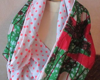 Large tube or wax snood scarf