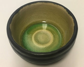 Black and Green Porcelain Bowl