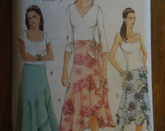 Vogue V8040, sizes 12-16, misses, petite, skirt and sash, UNCUT sewing pattern