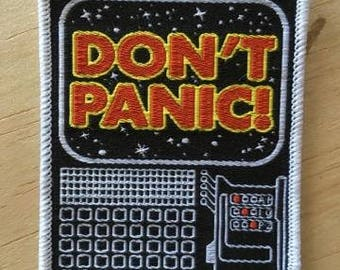 PATCH Don't Panic IRON ON hitchhiker's guide to the galaxy
