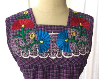 Embroidered apron from Oaxaca Mexico