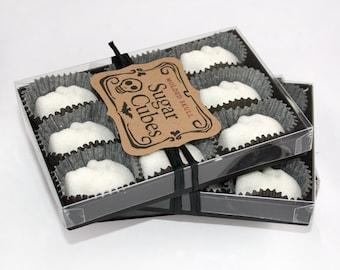 Sugar Cube Skulls for Coffee, Tea or Absinthe // Skull Gifts // 2 Boxes Skulls // Gothic Valentine // Skull Sugar Cube // Mini Sugar Skull
