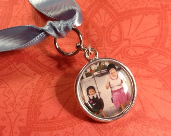 Wedding Bouquet Charm, Bridal Bouquet Simple Charm with custom photo