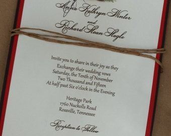 North Woods in the Pines Pinecone Wedding Invitation by Kim Boyce Designs