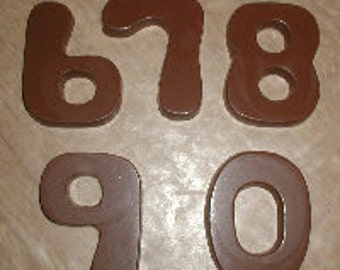 Numbers 6 - 0 Chocolate Mold