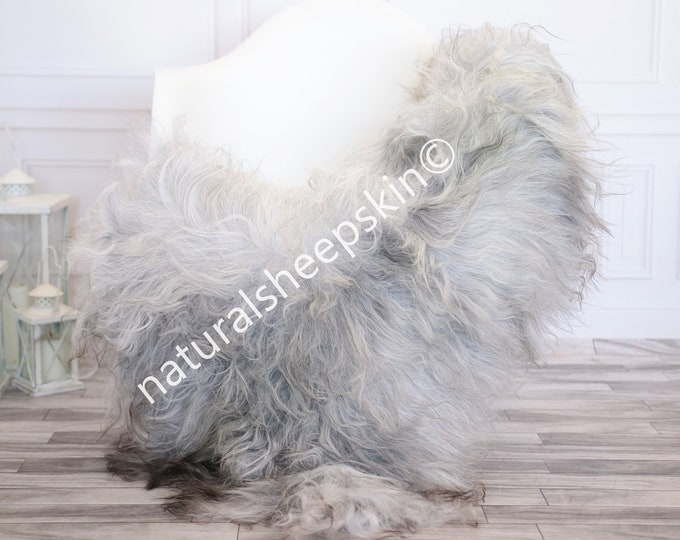Icelandic Sheepskin | Real Sheepskin Rug | Gray Sheepskin Rug | Fur Rug | Homedecor #febisl28