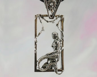 Mermaid Pendant With Sun Bail in Sterling Silver