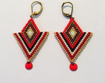 Miyuki beads and ethnic earrings