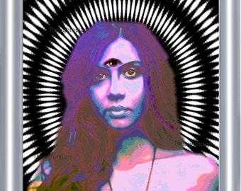 Third Eye Trippy Art Print 8 x 10 – Psychedelic - Spiritual - Visionary - Festival Art - Surreal Pop Mystical - Hypnotic - Pop Art - Rave