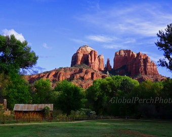 American Southwest. Cathedral Rock. Sedona. Red Rock.  Wall Art.