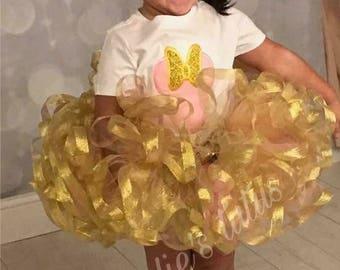 Minnie Mouse tutu set Birthday outfit