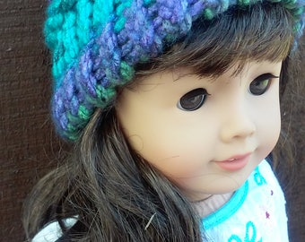 18 inch doll hat // Hat for doll // Hand knitted hat for 18 inch doll