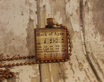 Rock of Ages Hymn Necklace