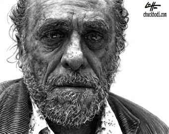 "Print 11x14"" - Charles Bukowski - Poetry Books Alcohol Reading Writers Sex Hollywood Los Angeles Drunk Hipster Pop Art Hemingway Beer Wine"