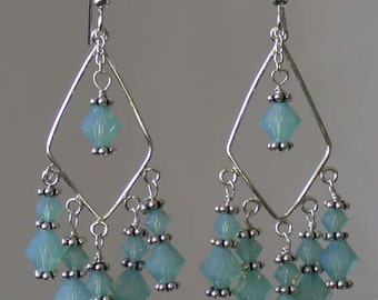 Handmade Swarovski Crystals and Sterling Silver Earrings - Dawn Michele
