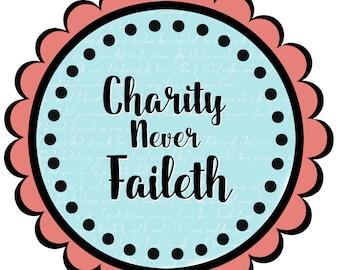 lds relief society clipart clip art faith hope charity charity rh etsy com free lds relief society clip art relief society visiting teaching clip art