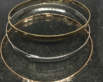3 bracelets Bangle in Sterling Silver 925, the 3 rd offered