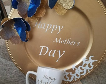 Mothers Day plate and cup set