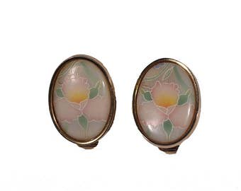 Vintage Pastel Clip-On Earrings