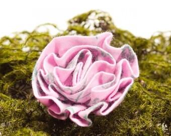 Pink Moss Men's Lapel Flower