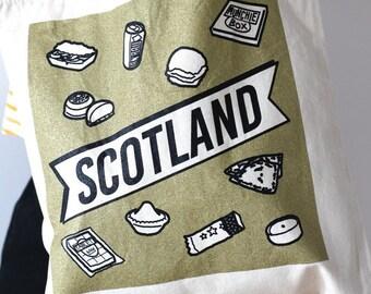 Scottish Junk Food Tote Bag
