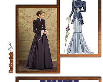 Victorian/Edwardian Pattern, Jacket Pattern, Mermaid skirt pattern, Butterick 4954,Steampunk Pattern-Plus Size 16-22