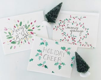 Holiday Pack / Christmas Cards / Blank Cards / Holiday Cards / Seasonal Cards / Greeting Cards