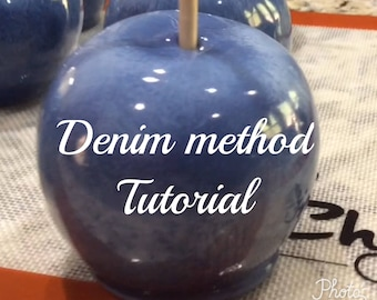 Printable candy apple tutorial - Denim method