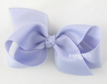 Girls Hair Bow - Iris light purple hair bow - Loopy Bows - large hair bows - big hair bows - bows for girls - toddler clips - 3.5 inch bows