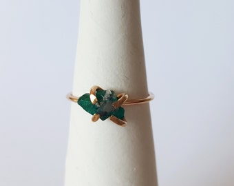 Made to Order Dioptase Ring 14k gold filled Dioptase Ring Dioptase Stacking Ring