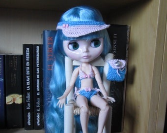 Outfit for Blythe Beach set for Blythe