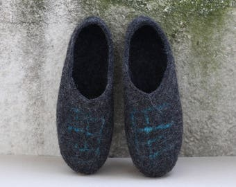 Handmade Wool Felt Slippers DAILY GRAIL By VidaFelt - Size 41 - Free Shipping!