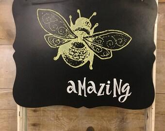 Chalk art bee amazing chalkboard