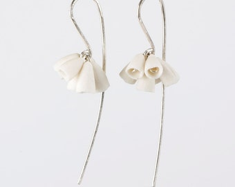 White Porcelain Bunch Earrings