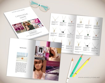 Wholesale Product Catalog template,Photoshop Product Catalog, InDesign Catalogue, Ms word Catalog, jewellery Catalogue Template, Jelevery
