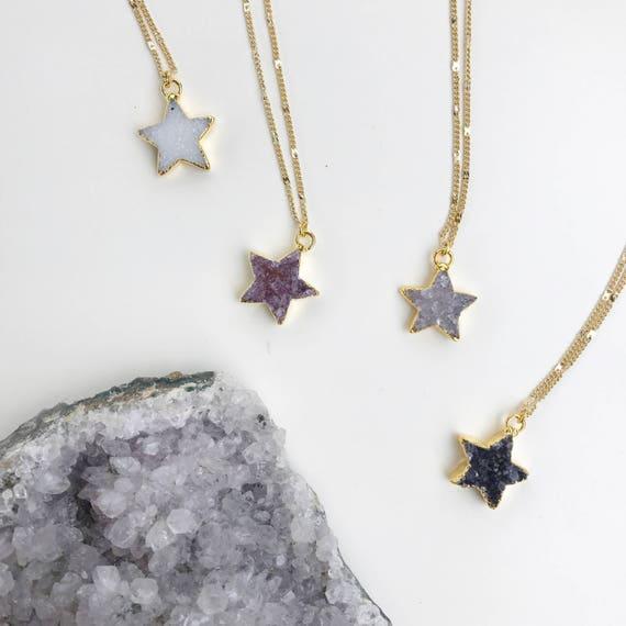 Druzy Star Necklace