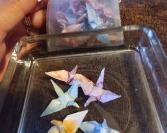 1000 Miniature Origami Paper Cranes Perfect for Wedding, Parties, Decorations or more.