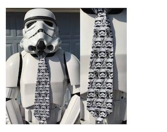 Star Wars Force Awakens First Order Stormtrooper Novelty Necktie - First Order Stormtrooper TK SciFi Disney Force TFA Tie
