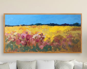 Landscape Painting Abstract Painting Country Home Decor Kitchen Wall Decor Country Painting Landscape Art Rustic Decor Christmas Gift Ideas